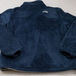 The North Face Tops - The North Face Blue Osito Fleece Sweater Jacket